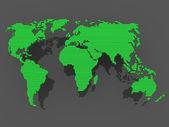 World map black green — Stock Photo