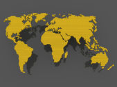 World map black gold — Stock Photo