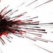 3d abstract explosion red — Stock Photo