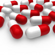 Royalty-Free Stock Photo: 3d pill red white