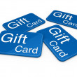 3d gift card blue — Stock Photo