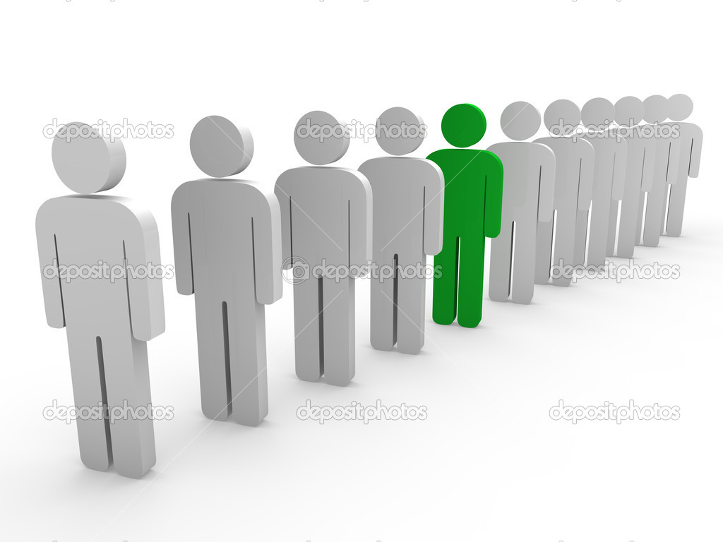 3d team leader boss company green teamwork — Stock Photo #6412644