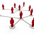 3d red network team — Stock Photo #6426764
