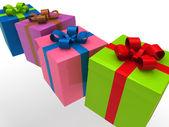 3d gift box — Stock Photo