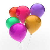 3d ballon colorful — Stockfoto
