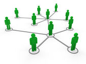 3d green network team — Stock Photo