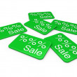 3d sale card green — Stock Photo #6446910