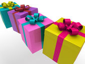 3d gift box — Stock Photo