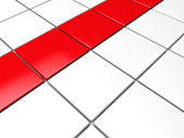 3d red white cube background — Stock Photo