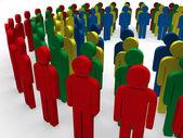 3d teamwork community circle — Stock Photo