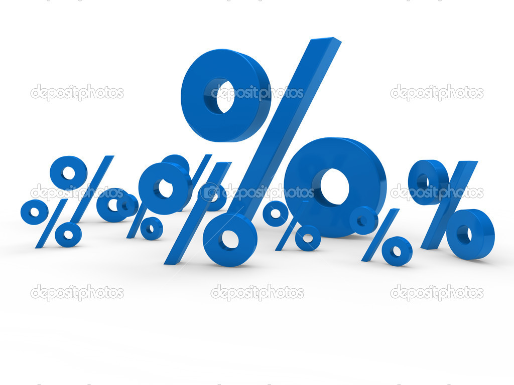 3d blue sale percent sign price discount — Stock Photo #6639100