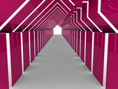 3d hus tunnel rosa — Stockfoto
