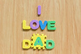"Colorful letters with ""I love dad"" — Stock Photo"