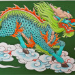 Chinese traditional kirin pattern — Stock Photo