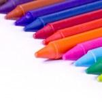 Colorful wax crayons — Stock Photo #6511654