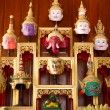 Khon Masks is situated on the set of altar table - Foto Stock