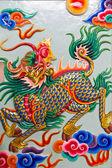 Chinese style sculpture art, Kilin fairy tale animal — Stock Photo