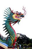 寺院でカラフルな龍の像 — ストック写真