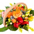 Stockfoto: Basket with flowers