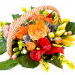 Foto Stock: Basket with flowers