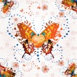 Royalty-Free Stock Vector Image: Stylized butterfly with heart