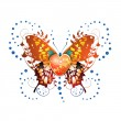 Stylized butterfly with heart — Stock Vector