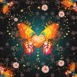 Stylized butterfly with heart — Image vectorielle