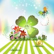 St. Patrick's Day card design - Stock Vector