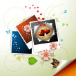 Royalty-Free Stock Imagen vectorial: Photos collection with hearts