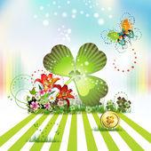 St. Patrick's Day card design — Stock Vector