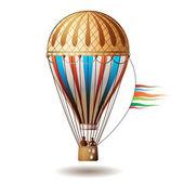 Colorido globo aerostático — Vector de stock