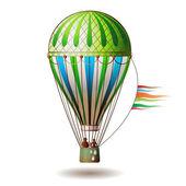 Colorful hot air balloon — Stock Vector
