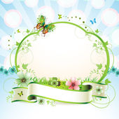 Banner with flowers — Stockvector
