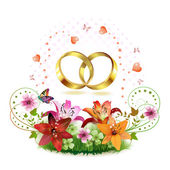 Two wedding ring — Stock Vector