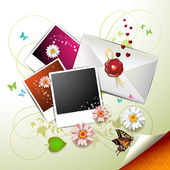Photos collection with envelope — Vector de stock