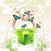 Springtime box — Stock Vector