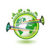 Eco terra — Vettoriale Stock