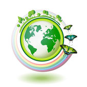 Eco Earth — Vettoriale Stock