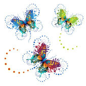 Stylized butterflies — Stock Vector