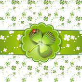 St. Patrick's Day card design — Stock Vector