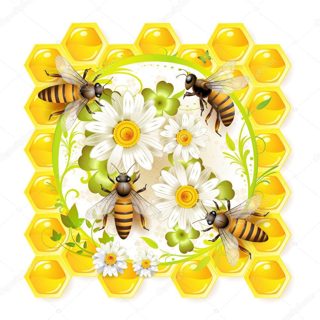Картинки для декупажа пчела