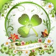 St. Patrick's Day card - Stock Vector