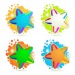 Backgrounds with colored stars — Stock Vector #6486672