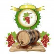 Wine barrel - Stock Vector