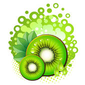 Kiwi slices — Stock Vector