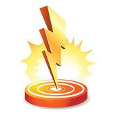 Lightning bolt — Stock Vector