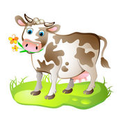Cartoon character of cow — Stock Vector