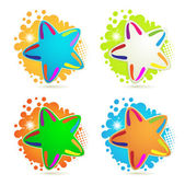 Backgrounds with colored stars — Stock Vector