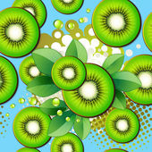 Seamless pattern with kiwi — Stock Vector