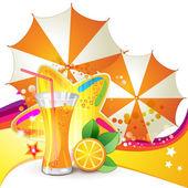 Bicchiere di succo d'arancia — Vettoriale Stock